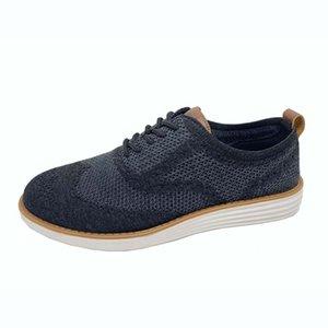 мужская классическая мода повседневная обувь на шнуровке дышащей обуви OXFORD