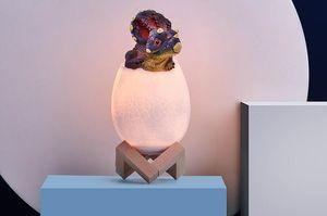 Cores LED Dinosaur Egg cabeceira Lâmpada Controle Remoto 4 modos de iluminação