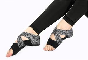 Sıcak Satış-Bandaj havadan yoga çorap moda önleme profesyonel zindeliği beş parmak yetişkin maruz yetişkin yoga ayakkabıları skid