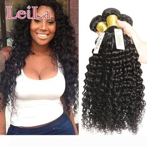 Cheap Brazilian Hair Weaves Unprocessed Virgin Human Hair Wefts Hair Extensions 3pc Double Weft Deep Wave Three Bundles Curly