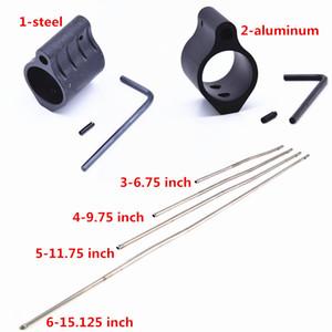 Blocchi di gas in alluminio in acciaio Blocco di gas tattico da 0,75 pollici Dia Fit Blocco di gas micro con mattarello