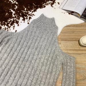 All'ingrosso-2019 New Fashion a maniche lunghe casuale sexy colore solido senza spalline DOLCEVITA 1108