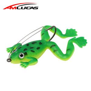 Frosch Fischköder 6 cm 5,2g Gummi Gummiköder 3 Farben Wurm Kunststoff Fisch Mit Haken Künstliche Köder Angelgerät Ww1045