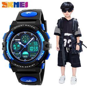 SKMEI Fashion Kids LED Relojes digitales para niños niña deporte PU Relojes de pulsera Reloj inteligente Niños Relojes impermeables Montre Enfant