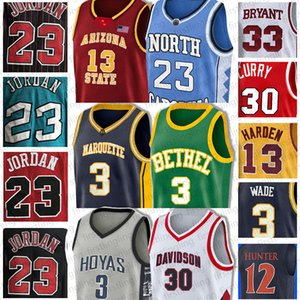 23 Michael Carolina del Norte NCAA Allen Iverson 3 Dennis Rodman 91 Curry 3 Wade Jersey 30 Stephen Dwyane James Harden 13 Scottie Pippen 33