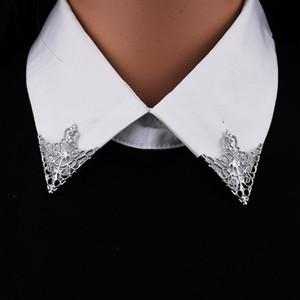 I-Ремиил Vintage моды треугольник воротник рубашки Pin для мужчин и женщины выдолбленной Короны Броши Corner Emblem ювелирных аксессуары HdCuq