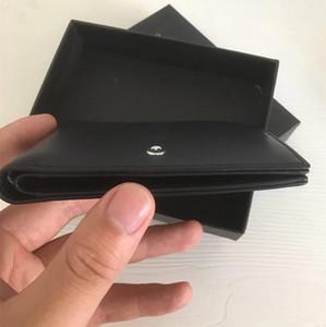 Mens MB Carteira para portadores de Cartão Projeto Bolsa de couro real Cartão de Crédito Men Short carteira Carteira Com Box