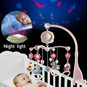 Rattle baby bed mobile toy rack rotation mobile bed bell music box projection 0 to 12 months newborn baby boy toy