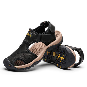 High Quality Men Sandals Genuine Leather Sandals Summer Casual Shoes Men's Roman Beach Sandals Sandalias De Hombre De Cuero