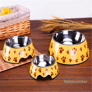 Dupla bacia Pet Bowl criativa Popular New Plastic Dog Bowl cães e gatos Bacia Hidrográfica Shatterproof