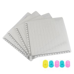 Ferramentas Pen impressão 4pcs Design 3D tapete de silicone Copiar modelos 3D desenho da pena com base Formas de Silicone dedo White Caps