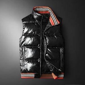Leisure shsh Men's Wear 2020 Winter Thickening Stand Collar Jacket Bright Noodles Youth Down Vest 0220-01