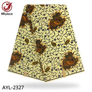 베이지 아프리카 왁스 인쇄 직물 100 % 코 튼 좋은 품질 편안한 소재 진짜 왁 스 직물 AYL 2327