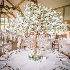 새로운 인공 벚꽃 꽃 나무 시뮬레이션 가짜 복숭아 가정 장식 및 웨딩 Centerpieces 장식을위한 나무를 기원