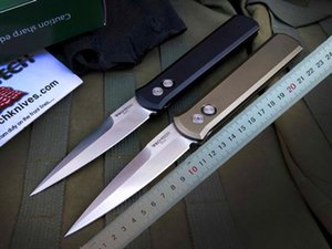 PROTECH Godfather 920 Otomatik Otomatik Taktik Survival Katlama Bıçak 154CM cep klibi ile T6061 Alüminyum Kolu bıçağı