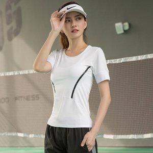 Sports executando secagem curto manga curta em torno do pescoço rápida T-shirt da aptidão Yoga Top Women Womens Sports Sweater