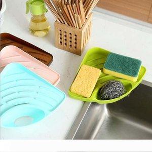 B Utile famiglia di alta qualità Triangolare scaffale della Kitchen Sink spugna piatto Sapone Il bagno cremagliera liberi