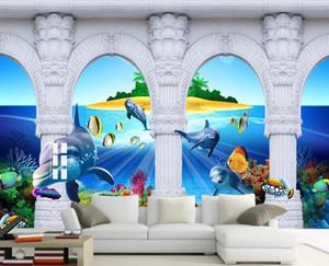 personalizado casa melhoria papéis de parede para sala quarto Seaview sofá TV fundo da parede foto wallpaper