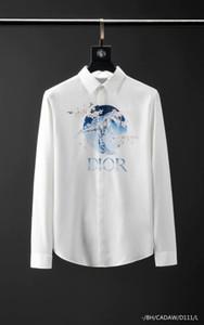 erkek gömlek markası gömlek tasarımcısı gömlek Marka giysiler elbise 070 erkek erkekler uzun kollu gömlek Hip Hop tarzı yüksek kaliteli pamuk 2019 yeni varış