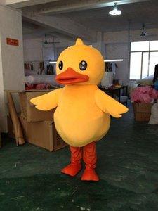 2019 Vente chaude hot Big Yellow Rubber Duck Mascot Costume Cartoon Exécution Costume Livraison Gratuite