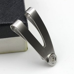 أزياء الفولاذ المقاوم للصدأ الخامس شكل المال كليب رجل nable mone مقطع الميكانيكية تلميع لم يكن لديك مربع