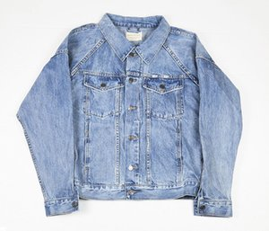 FOG Mens Jackets azul Vintage Denim Vaqueiro camisas Masculino Feminino inverno Brasão Casual Jacket