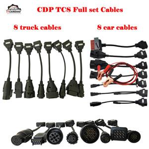Pour Ds150e 2019 Ensemble complet 8 camions Câbles 8 Câbles voiture OBD2 outil de diagnostic OBDII OBD 2 câble de connexion