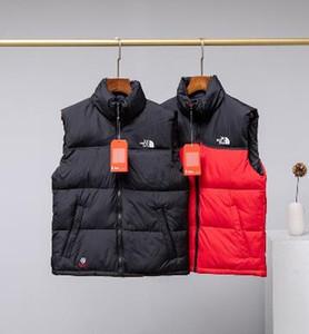 2020 nouvelle mode d'hiver d'homme du Nord Col Veste Veste chaude Gilet de haute qualité vers le bas veste noire rouge à deux couleurs S-2XL