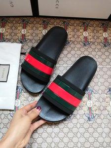Web slide sandal High Quality Luxury Designer Mens Womens Summer Rubber Sandals Beach Slide Fashion Scuffs Slippers Box free shipping