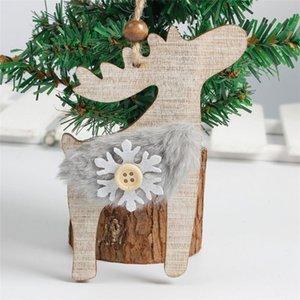 Ev Enfeites De Natal Noel Hediyeler için Süsleme Dekor Asma kar tanesi Ahşap Bezemeler Rustik Yılbaşı Ağacı