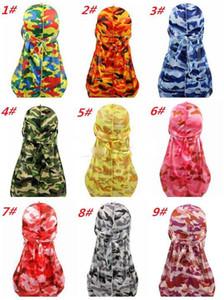 Mode Camouflage Imprimer Durags Turban Bandeaux Brochage hommes extérieur hommes Durag Couvre-chef Bandeau Pirate Hat Accessoires cheveux