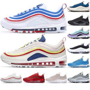 Max 97 Off White 2019 OG UNDEFEATED Metallic Gold Silver Sean Wotherspoon Overbranding Blue Hero Zapatos para correr Hombres Mujeres Zapatos deportivos Zapatillas de
