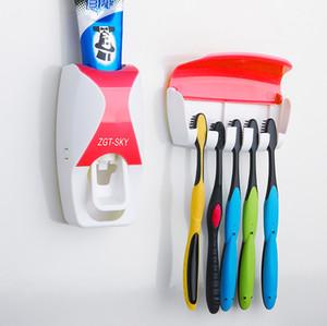 Banyo Aksesuarları Seti Diş Fırçası Tutucu Otomatik Diş Macunu Dağıtıcı Tutucu Diş Fırçası Duvar Dağı Raf Banyo Araçları Seti VT334