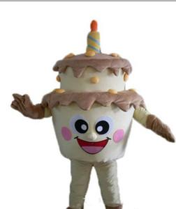 2018 Sıcak satış Özel Doğum Günü Pastası maskot kostüm bir logo ekleyin Yetişkin Boyutu fantezi karnaval kostüm ücretsiz kargo