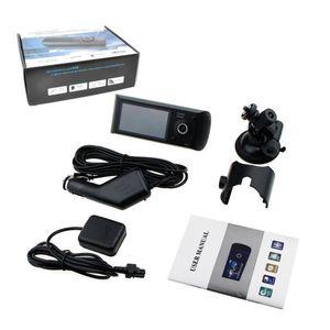 X3000 / R300 HD المزدوج عدسة ليلة الرؤية سيارة DVR كاميرا فيديو مسجل لتعليم قيادة السيارات داش كاميرا G الاستشعار GPS