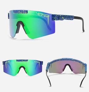 Gafas de sol Pit Viper marco grande de montar gafas de sol colorido lleno plateado real película polarizada Gafas de sol Boxed1