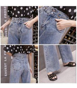 Jinyilai Violet vita alta Jeans Femminile