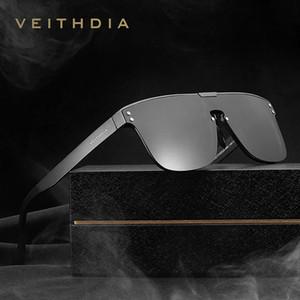 Veithdia Marka Moda Retro Alüminyum Güneş Polarize Lens Vintage Gözlük Aksesuarları Güneş Gözlükleri İçin Erkekler V6881 Vigli entegre