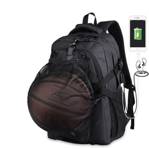 2019 Male Basketball Backpack With Usb Charge Teenager Pack Large Capacity Pocket School Bags Laptop Teenager Travel Anti-theft