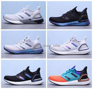 2020 New Ultra Boosts 20 Consortium Real Boosts Mens Running Shoes UltraBoosts 19 6.0 Metallic Purple White Women Designer Sneakers Size 45