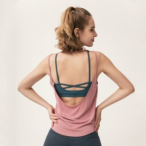 suit Solid color sexy yoga with bare back sling running vest women's fitness breathable