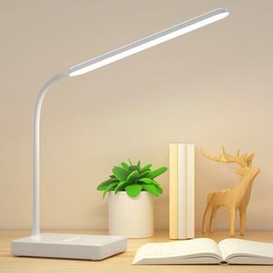 Protección de los ojos del estudiante de libros luces de lectura y escritura de mesa inteligente luz lámpara del libro lámparas de noche dormitorio modernos simples