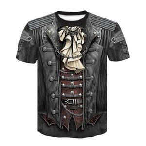 gym Man fashion Summer Creative printing Round collar T-shirt Short sleeve Ventilation Cultivate oneself digital printing