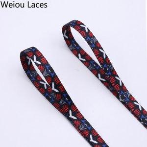 Weiou 7mm Düz Tek Katmanlı Ağ Danteller Süblimasyon Isı Transferi Dijital Baskı Plastik İpuçları Ile Beyaz Kırmızı Baskılı Ayakabı