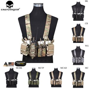 EMERSONGEAR D3CR Tactical Chest Rig Ambienti dirompenti Vest Molle Simple Tactical Paintball Gilet con custodia per riviste