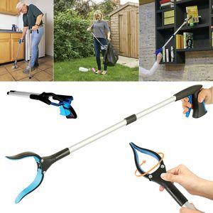 Hot 84cm Grab Tool Aluminum Alloy Rubber Grip Trash Pick Up Disabled Long Reach Arm Extension Grabber Tool Universal Clip