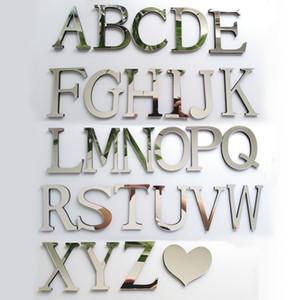 Nouveau stickers muraux bricolage 3d autocollant acrylique décoration cadeau de mariage lettres d'amour décoratif Alphabet décoration murale