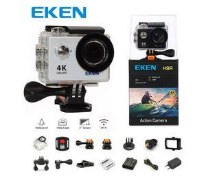 câmera de Acção inicial EKEN H9 H9R com controle remoto Ultra HD 4K WiFi HDMI 1080p LCD câmera de 2.0 170D Esporte impermeável com caixa de varejo