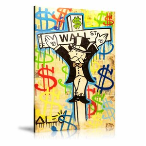 Alec Monopoly Exile on Wall Street,HD Canvas Printing New Home Decoration Art Painting (Unframed Framed)