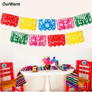 mayoristas mexicanos Banner boda de la guirnalda de la bandera banner decoraciones para fiesta de cumpleaños temática del partido de Halloween Papel Picado
